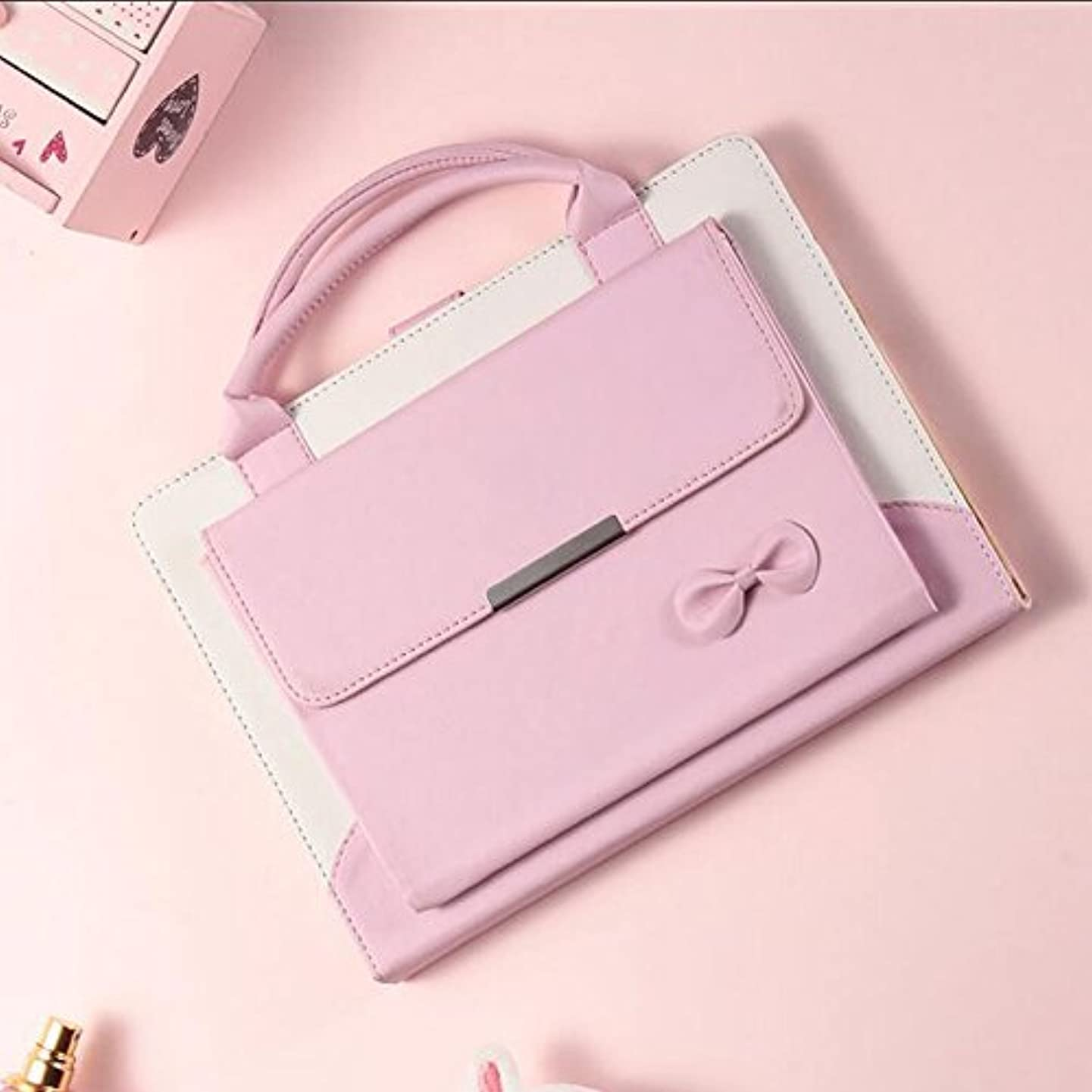 amhello Lovely Handbag Synthetic Leather Magnetic Stand Case Cover with Auto Sleep/Wake Function for iPad Air 1st/Air 2/Pro 9.7/New iPad 9.7 2017/iPad 9.7 2018 - Baby Pink
