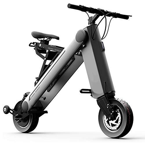 YQZX Scooter Eléctrico Scooter Movilidad Scooters Adultos 350W Moda Inteligente 1 Segundo Plegable Scooter Eléctrico Plegable Y Ruedas Portátil 8 Pulgadas 36V 10AH, Negro