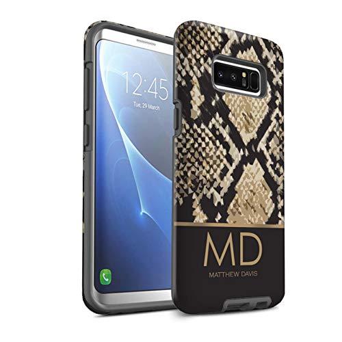 Personalizado Patrón Moda Animal Impresión Personalizar Funda Mate para el Samsung Galaxy Note 8/N950 / Efecto Piel Serpiente Diseño/Inicial/Nombre/Texto Carcasa/Estuche/Case Prueba de Choques