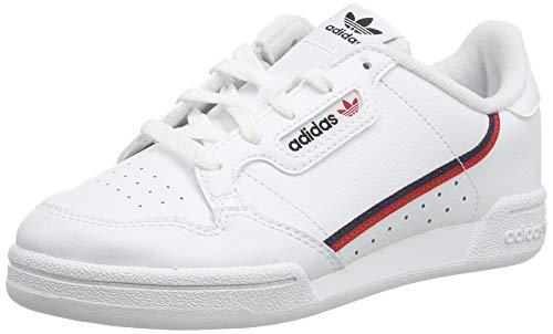 adidas Unisex-Kinder Continental 80 C Sneaker, Weiß (Footwear White/Scarlet/Collegiate Navy 0), 34 EU
