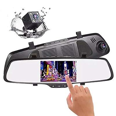 Dash Cam, Car Camera Rear View Camera Car Mirror Recorder Dash Cam Reverse Camera Vr 2In1 Airborne Registrar Auto Rear View Camera Mirror from DXH