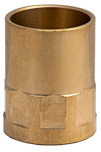 Latón Fontanería montaje para Soldadura Conexión a cobre tubos Mujer 22mm 1/2