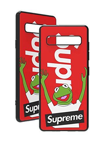 SUP Kermit Hülle [ passend für Samsung Galaxy S10, in Rot ] Supreme x Kermit der Frosch Hülle - Fühlbares 3D-Motiv Cover