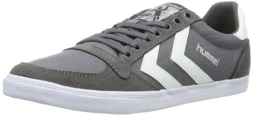 hummel Unisex-Erwachsene Slimmer Stadil Low Sneakers, Grau (Castle Rock/White KH), 46 EU (11 Erwachsene UK)