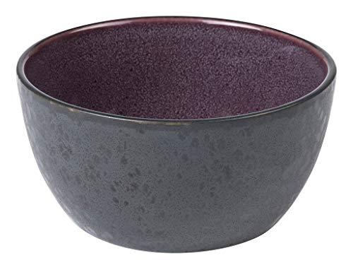BITZ Schüssel, Schale, Müslischale, Snackschale aus Steingut, 14 cm im Durchmesser, schwarz/lila