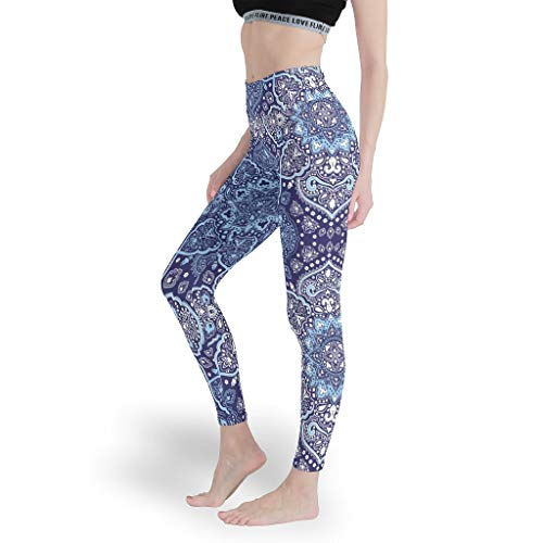 Mandala Mädchen Cool Leggings Bequem Yoga Hosen Stilvoll Capris Tights für Laufen White xs