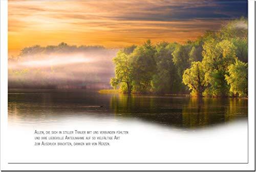 metALUm Danksagungskarten TRAUER | See | 10 Karten | 1501048