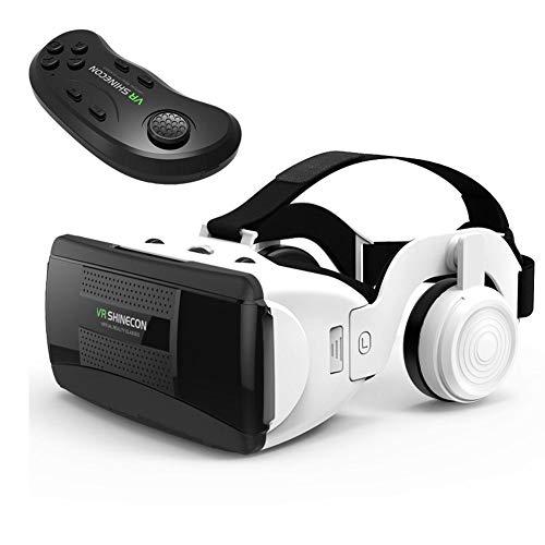 Gravere VR Headset mit Fernbedienung Stereo-Kopfhörer, Universal Virtual Reality Brille, Hifi Headset 3D VR Virtual Reality Brille mit Griffset latest