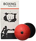 Portzon Boxing Reflex Ball, 2 Difficulty Level Boxing Ball with Headband, Softer Than Tennis Ball, Suit for Reaction, Agility, Punching Speed, Fight Skill and Hand Eye Coordination Training