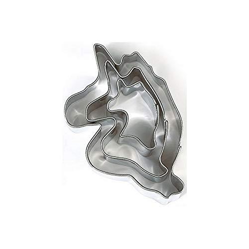 DTM-SOL Lot de 3 minis emporte-pièces Licornes en INOX Alimentaire, Diamètre 2,3,4 cm