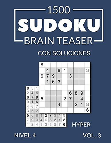 1500 Sudoku Brain Teaser Hyper con soluciones: Nivel 4 (difícil), Volumen 3, Edición en español