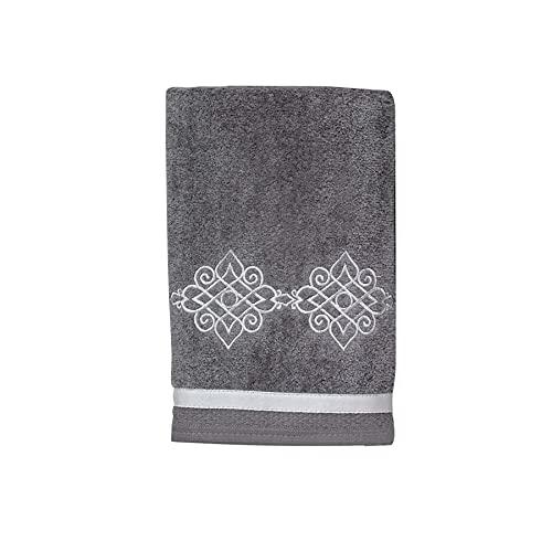 Avanti Linens Riverview Hand Towel, Nickel,038122NKL