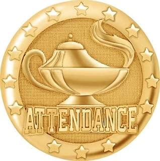 Attendance Pins Gold, School Attendance Lapel Pins for Perfect Attendance Pins Prime