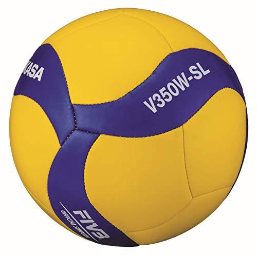 Mikasa Unisex– Erwachsene V350W-SL Volleyball, blau, 5