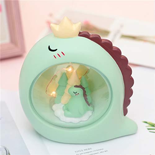 Wegji Creatieve nieuwe leuke dinosaurus kleine nachtlampje ster licht decoratief handwerk ornamenten zenden kinderen cadeau meisjes hart