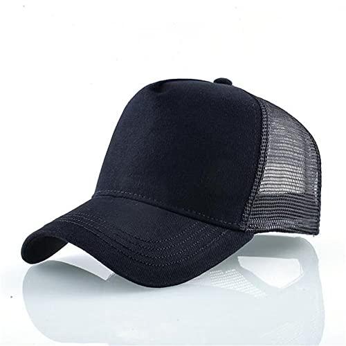 Moda Animales Gorras de bisbol Hombres Mujeres Snapback Hip Hop Sombrero Verano Malla Transpirable Sun Gorras Unisex Streetwear-Black
