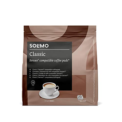 Marca Amazon - Solimo Senseo Pads Classic, 90 pads (5 Paquetes x 18)