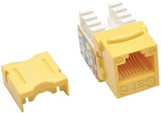 TRIPP LITE Cat6/Cat5e 110 نمط Punch Down Keystone Jack Yellow TAA GSA (N238-001-YW)