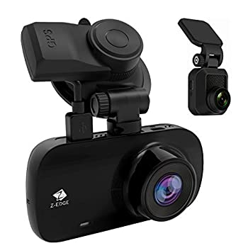 Dual Dash Cam Z-Edge Z3D 2.7  Screen Dual 1920 x 1080P Dash Cam Front and Rear  2560x1440P Single Front  with GPS Support 256GB max WDR Super Night Vision Parking Mode G-Sensor