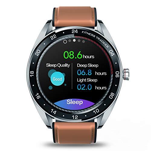 BNMY Smart Watch Activity Tracker, Herzfrequenzmesser, Blutdruckmessgerät, Weiblicher Gesundheitsmonitor 1,3-Zoll-Touchscreen IP67 Wasserdicht, Bluetooth 4.0-Kompatibel Für Android/Ios,Braun