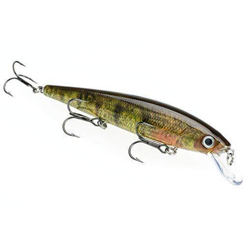 Strike King KVD Jerkbait 3 Hook Walleye,Yellow Perch, 0.05