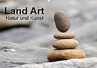 Land Art - Natur und Kunst (Wandkalender 2022 DIN A2 quer): Kunst aus der kleinen und unscheinbaren Natur um uns. (Monatskalender, 14 Seiten )