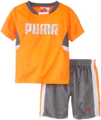PUMA   Kids Baby Boys' Shatter Set, Shocking Orange, 18 Months