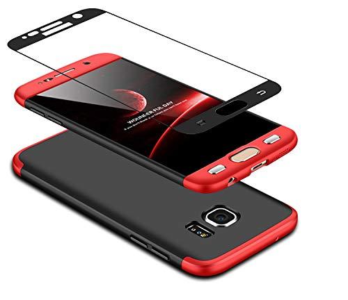 DECHYI compatibles para Funda Samsung Galaxy A70,Cubierta Cristal Templado Matte Ultra Slim PC Hard-Protecci/ón del Cuerpo Scratchproof Cubierta-Rojo