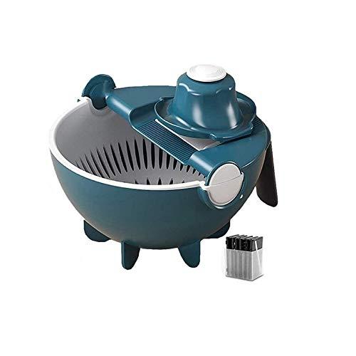 ZZC Cortador De Verduras Electrico Mandolina De Cocina con Contenedor De Cuchilla Reduce Drásticamente La Preparación Y El Tiempo De Cocción