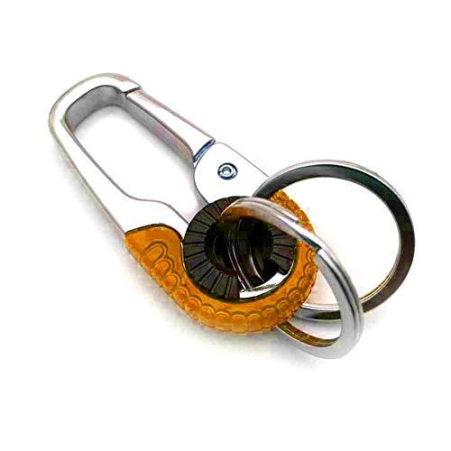 Hebilla de llavero de metal con 2 llaveros desmontable llavero de coche mosquetón multifuncional para gestión de llaves