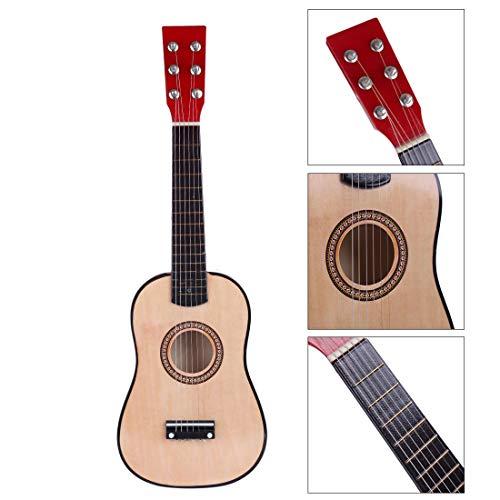 HENG 6 Saiten 23 Zoll Mini Gitarre Holz Simulation Musikinstrumente Lernspielzeug für Kinder Anfänger