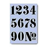 Plantilla de números 6cm Stencil A4