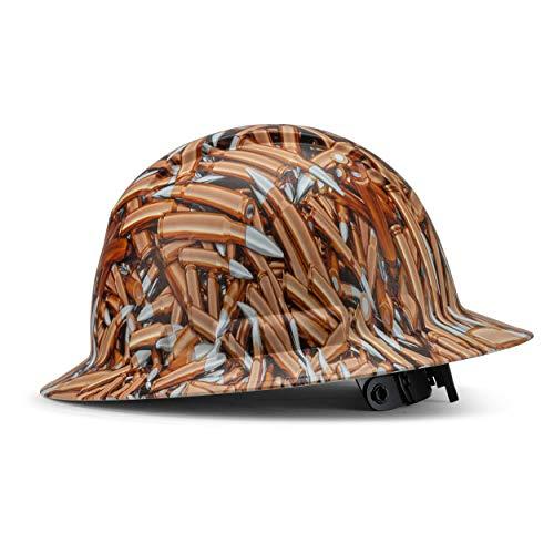 ACERPAL Full Brim Hard Hat, Custom Pocket Full of Shells Design Safety Helmet, with 6 Point Suspension