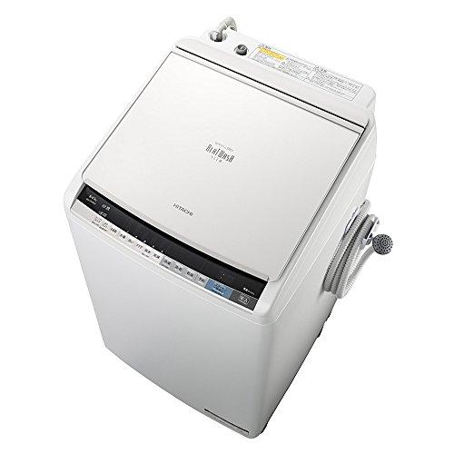 日立 タテ型洗濯乾燥機 ビートウォッシュ 8kg ホワイト BW-DV80A W