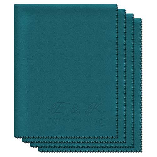 4x XXL Brillenputztücher - extra weiche Mikrofasertücher - 30 x 40 cm - waschbar