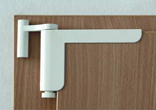 brevettato chiudiporta di Clip-Close colore bianco - Installazione semplice senza forare o la vite