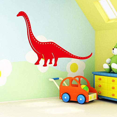 fancjj Dinosaurio de Dibujos Animados Etiqueta de La Pared para Niños Habitación Dormitorio decoración dragón Animales de Vinilo Arte de La Pared A Prueba de Agua murales Dinosaurio 58x78