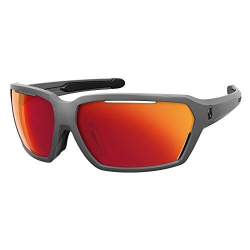 Scott Vector Fahrrad Sport Brille grau/rot Chrome