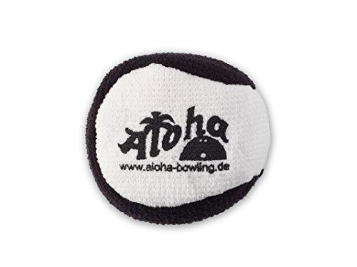 Aloha Bowling Microfiber Grip Ball (Weiß/Schwarz)