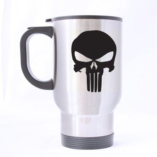 Generic Cool Day Gifts Punisher Skull Custom Travel Tasse Twin Seiten Aufdruck Custom Kaffee Tasse