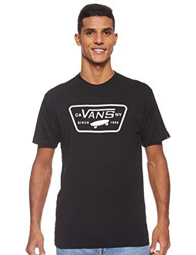 Vans Full Patch Camiseta, Negro (Black/White), Medium para Hombre