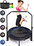FITPULSE Mini Trampoline for Adults Rebounder Trampoline with Handle - 40