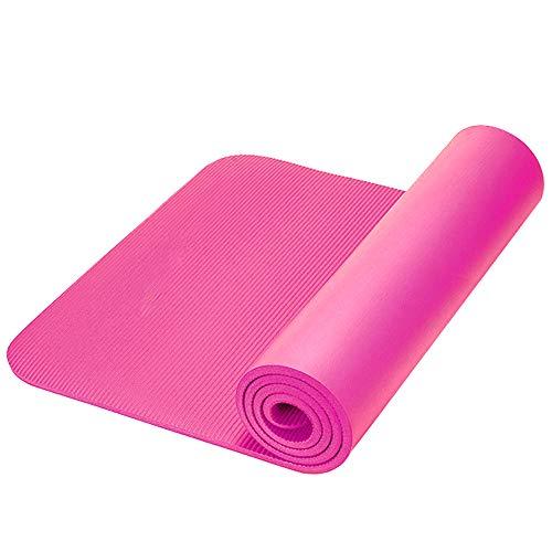 Yogamat Voor Twee Personen, Extra Lang Extra Groot Extra Dik Met Draagriem En Handtas, Nbr Materiaal Antislip Met Draagoefening Trainingsmat, 200cm X 160cm X 15mm,Pink