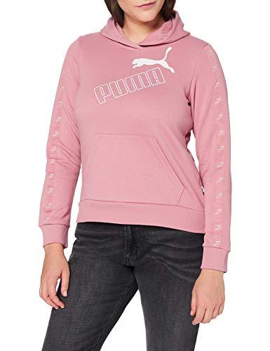 PUMA Amplified - Felpa da Donna con Cappuccio, Donna, Pullover, 583614, Foxglove, S