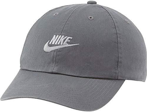 Nike Unisex Sportswear Heritage86 Futura Washed Cap, Iron Grey/Particle Grey, One Size