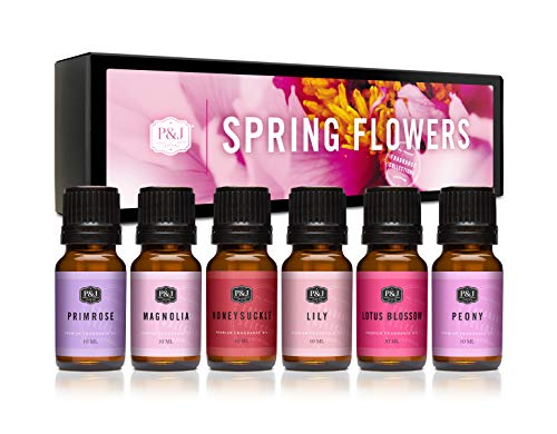 P&J Trading Fragrance Oil   Spring Flowers Set of 6 - Scented Oil for Soap Making, Diffusers, Candle Making, Lotions, Haircare, Slime, and Home Fragrance