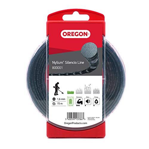 Oregon 800001 Nylium Silencio-Mähfaden, 1,6 mm x 15 m (Blisterverpackung)