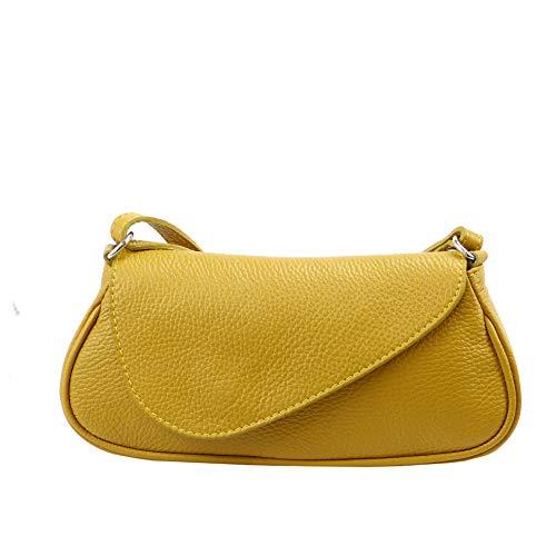 SH Leder  Echtleder Umhängetasche kleine Tasche Crossbody Bag Messenger Handtasche mit...