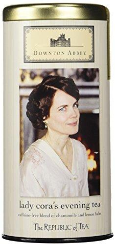 The Republic of Tea Downton Abbey Lady Cora's Evening Herbal Tea, 36 Tea Bags, Gourmet Chamomile Tea