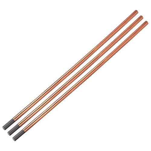 Electrodo de ranurar de carbono revestido de cobre, 7 mm x 355 mm, 3 barras